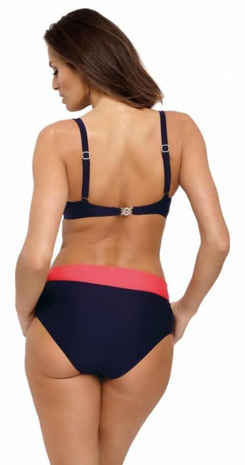Modro-růžové dámské dvoudílné plavky