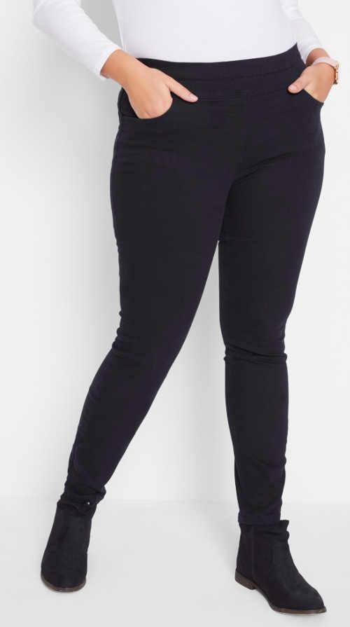 Černé kalhoty se stahovací pasovkou
