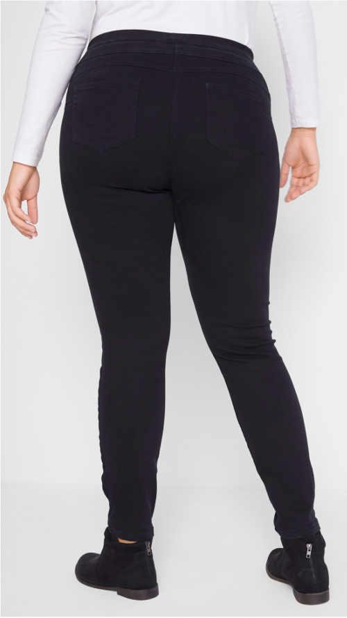 Černé push up džíny pro baculky