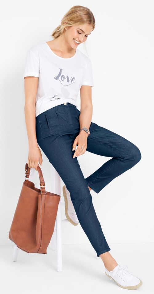 Dámské džíny z recyklovaného materiálu