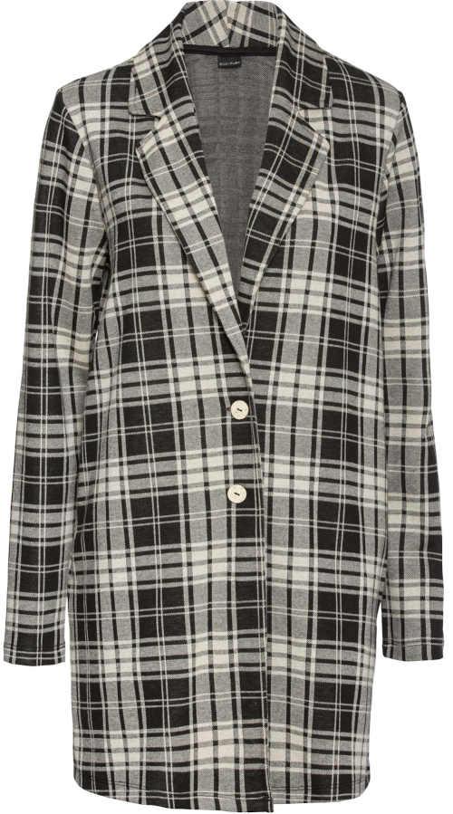 Přechodový dámský kostkovaný kabátek