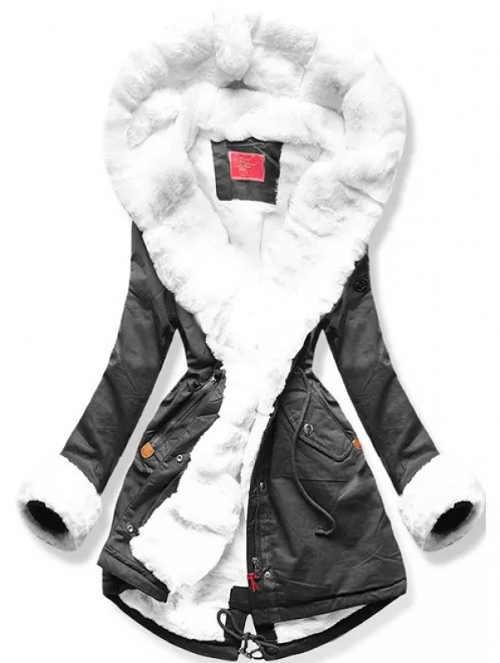 XXL zimní parka s vnitřním kožíškem