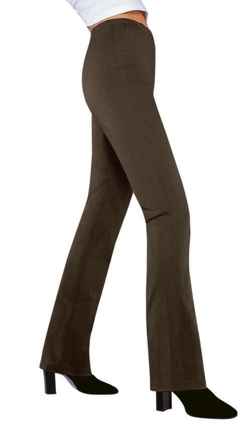 Hnědé legínové zvonové kalhoty
