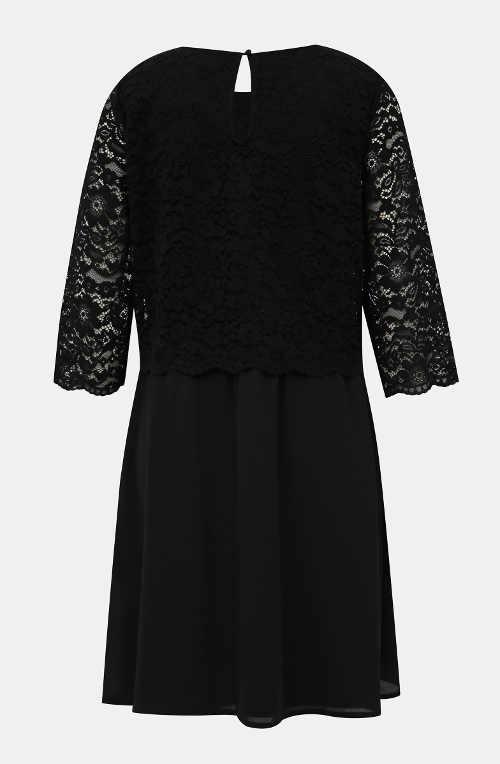 Černé krajkové šaty pro starší