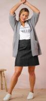 Džínová sukně s pružným pasem pro plnoštíhlé