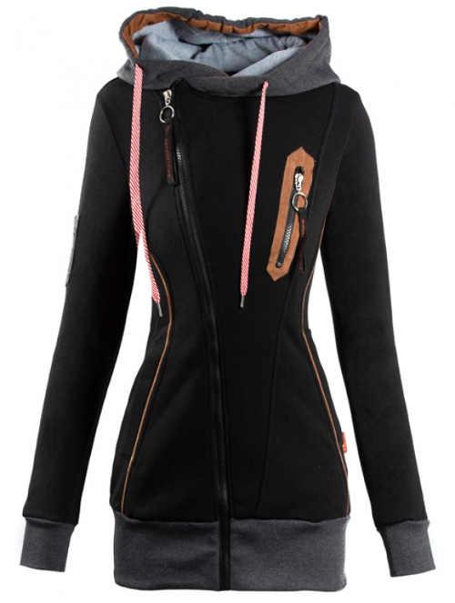 Mikinová dámská bunda s teplou podšívkou