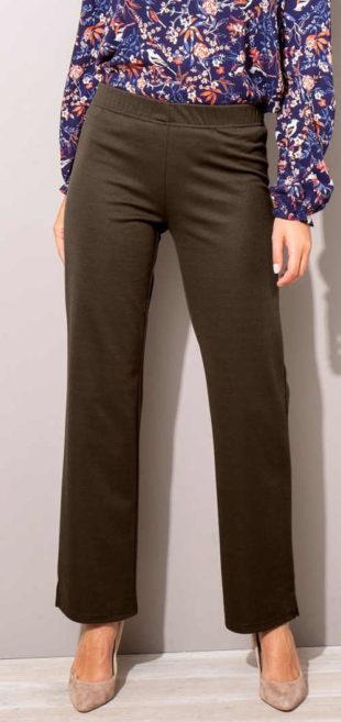 Výprodejové dámské úpletové kalhoty pro plnoštíhlé