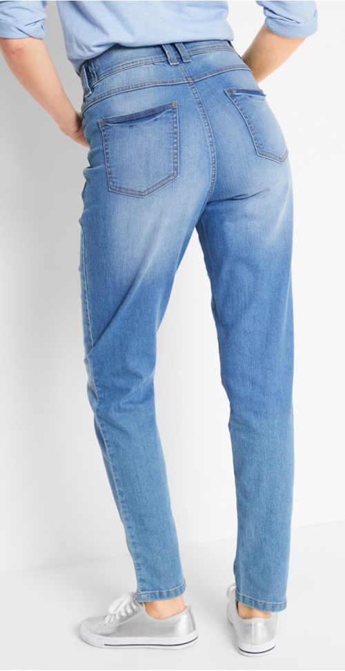 Dámské džíny s vyšší pružnou pasovkou