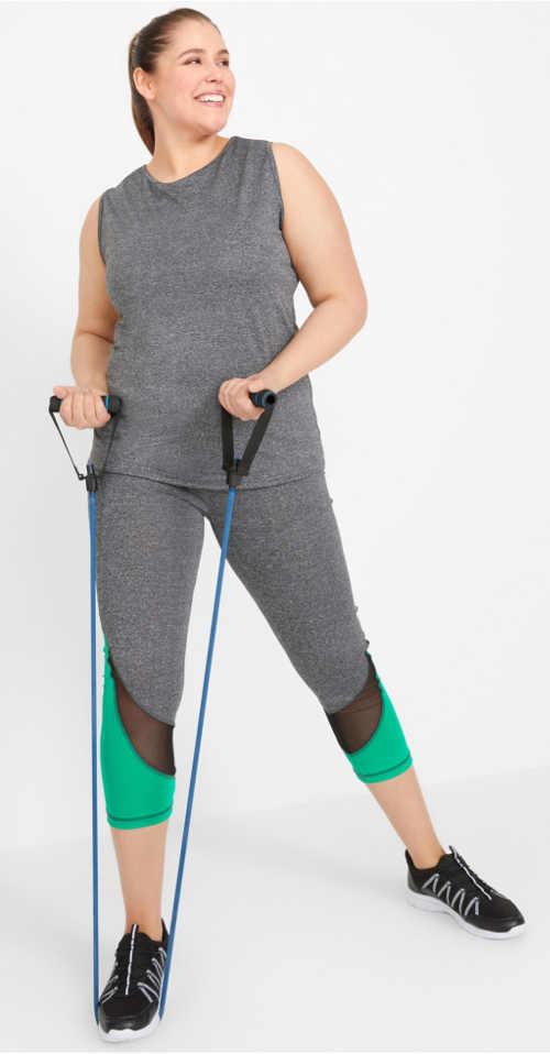 Oblečení na cvičení pro silnější postavy