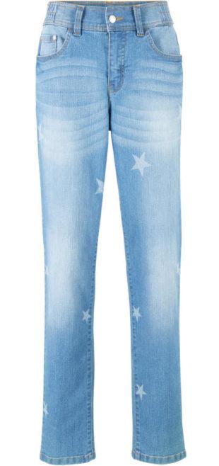 XXL dámské šisované džíny s hvězdami