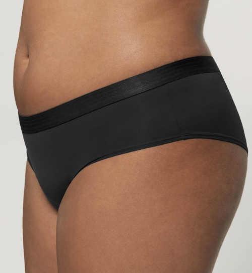 Hladké černé francouzské dámské kalhotky