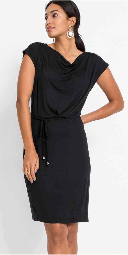 Levné dámské černé letní šaty