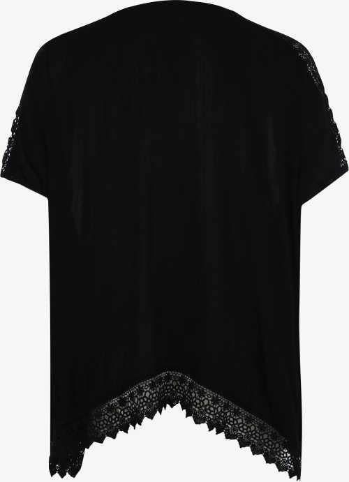 Asymetrické dámské tričko s krajkou