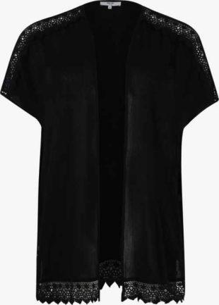 Černé dámské tričko s krajkou
