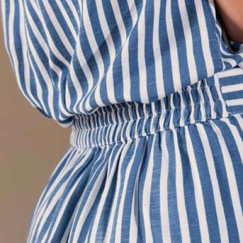 Pruhovaná dámská sukně s pružným pasem