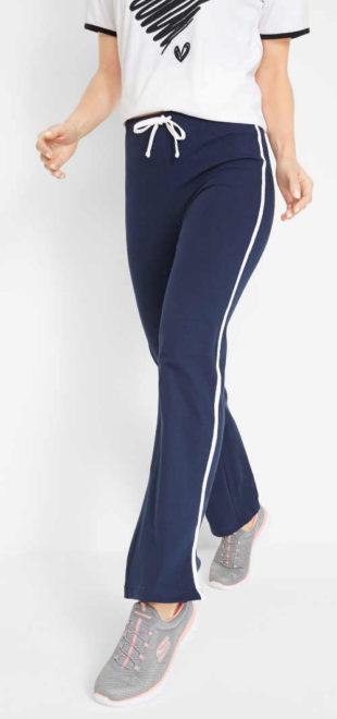 Sportovní strečové dámské kalhoty se šňůrkou v pase