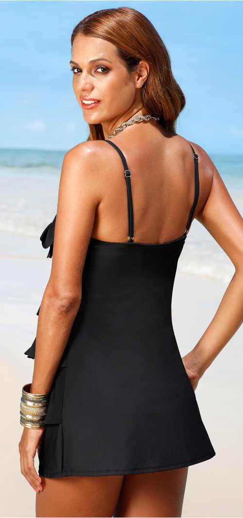 Stahovací dámské plavky se sukní