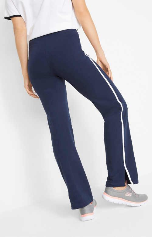 Tmavě modré dámské sportovní strečové kalhoty