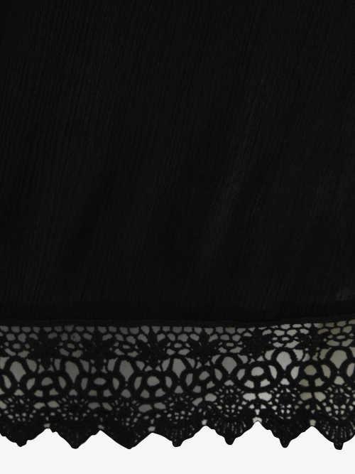 Zlevněné dámské černé krajkové tričko