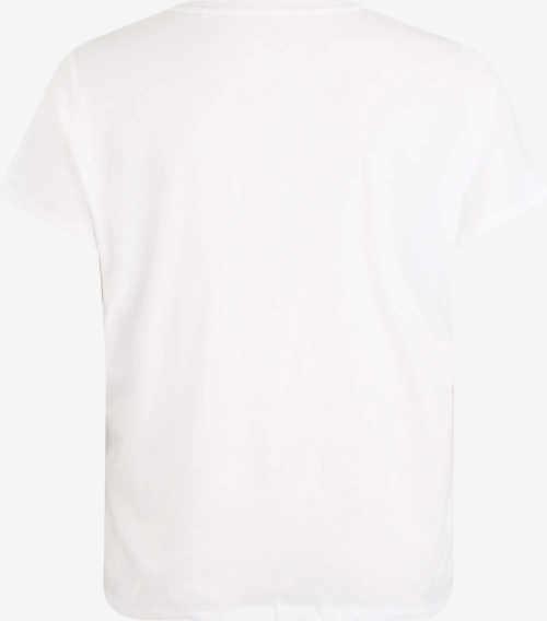 XXL dámské bílé tričko s krátkým rukávem