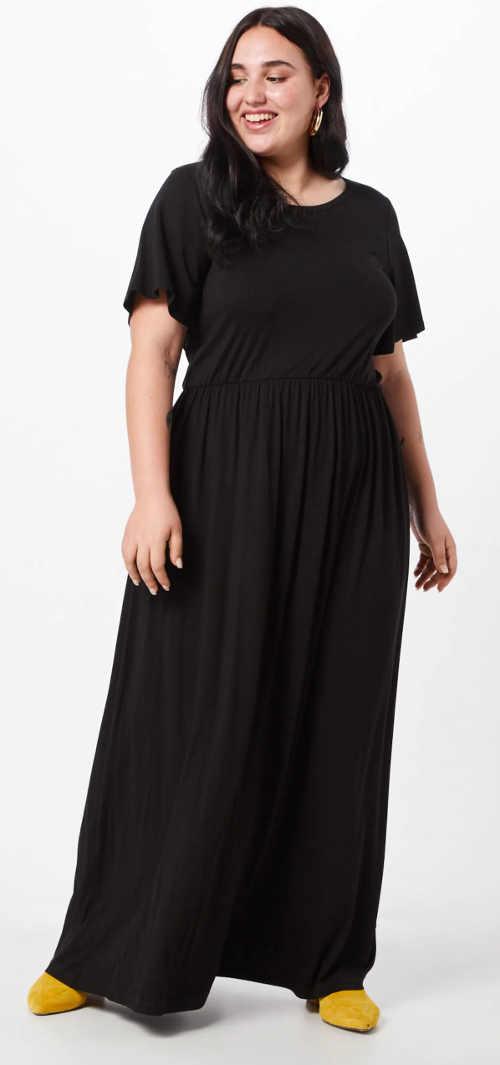 Dlouhé černé společenské šaty pro plnoštíhlé