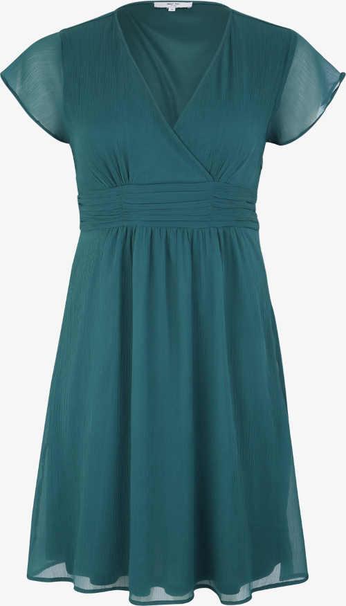 Koktejlové šaty pro plnoštíhlé smaragdové barvy