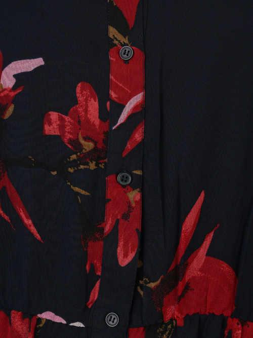 Společenské košilové dámské šaty na knoflíky