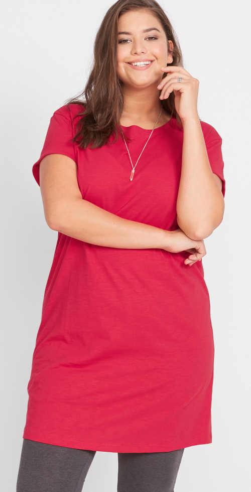 Tričkové žerzejové šaty k legínám