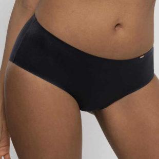 Černé hladké francouzské kalhotky s lepenými švy