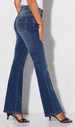 Strečové bootcut džíny v sepraném vzhledu