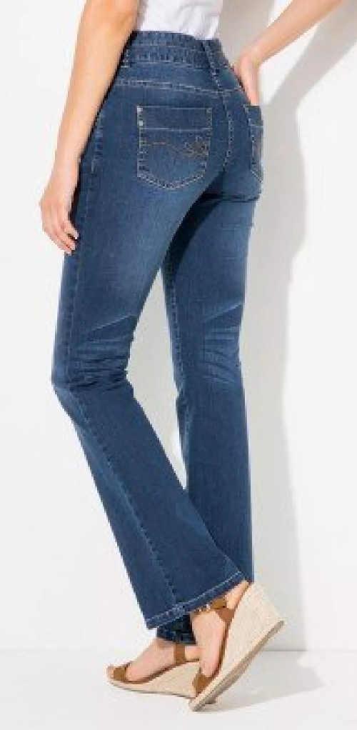 Strečové dámské džíny do mírného zvonu