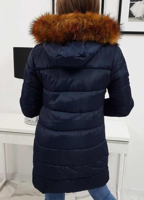 Dámská bunda na zimu v prodloužené délce