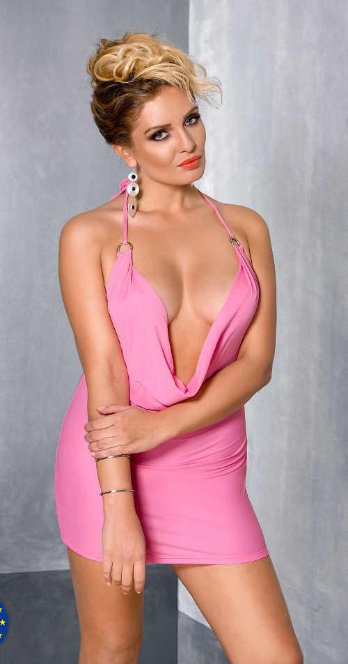 Dámská sexy košilka v růžovém provedení