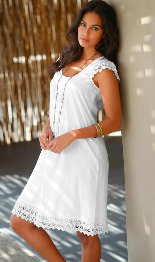 Krátké letní šaty z příjemného materiálu v různých barevných variantách