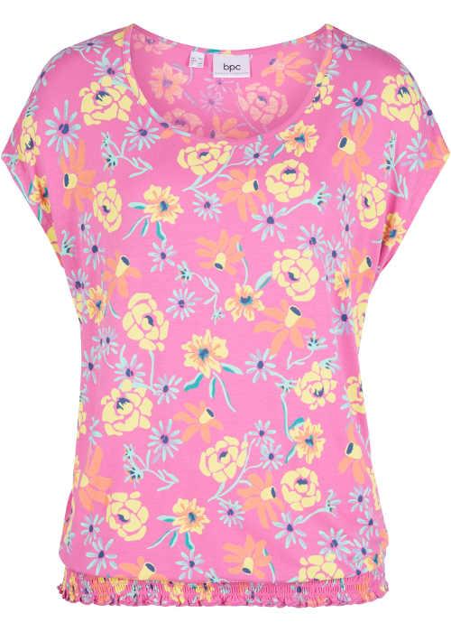 Moderní a praktické tričko s pružným lemem pro dámy s konfekcí size plus