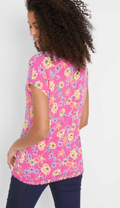 Moderní tričko v barevném provedení a pružným lemem