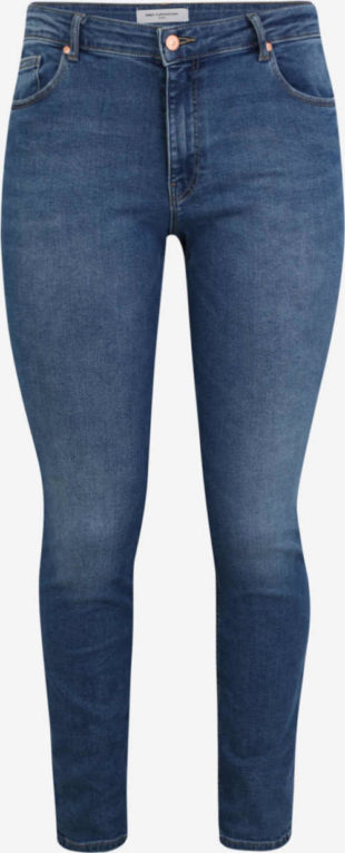 Kalhoty pro plnoštíhlé z modré oprané džínoviny