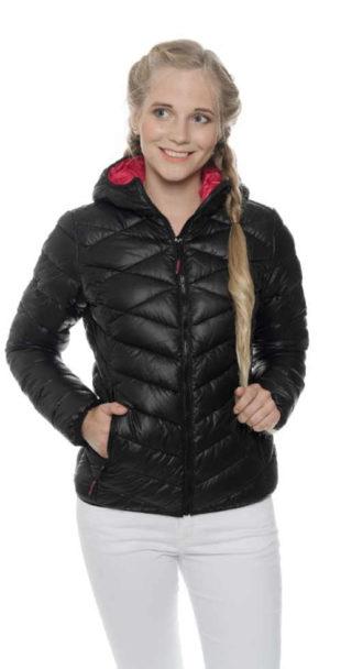 Dámská prošívaná bunda do pasu s praktickou kapucí