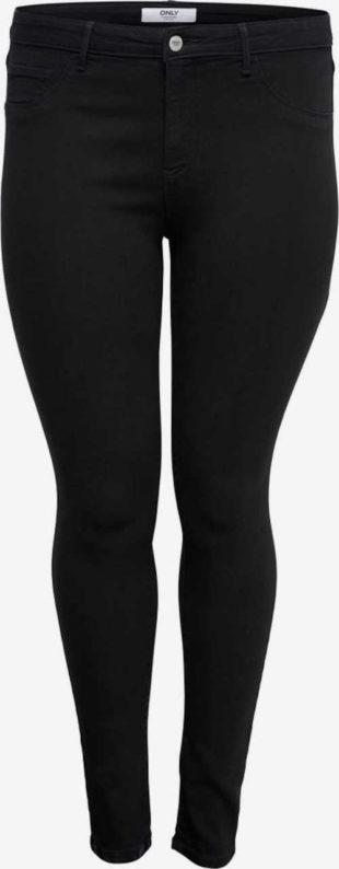Dámské trendy džíny v černém provedení s vyšším pasem