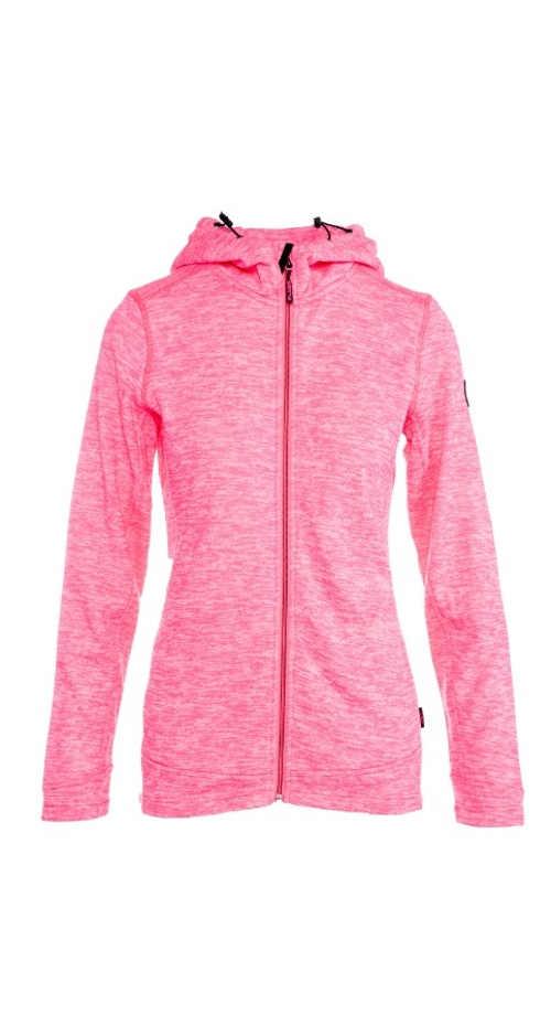 dámská mikina v růžové či šedé barvě