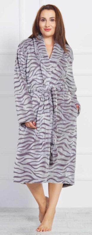 Dlouhý dámský župan s tygřím vzorem