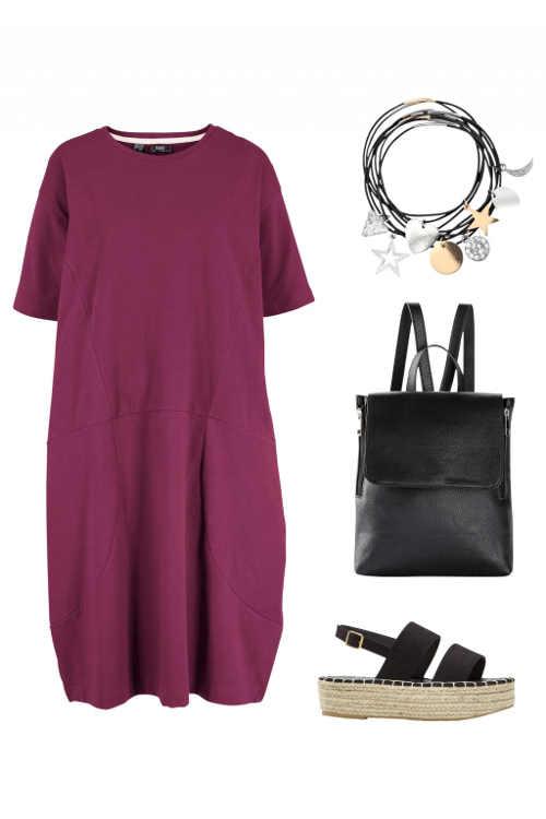 moderní šaty v provedení oversize s kapsami