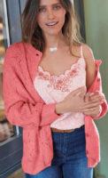 Pletený dámský svetr na knoflíky