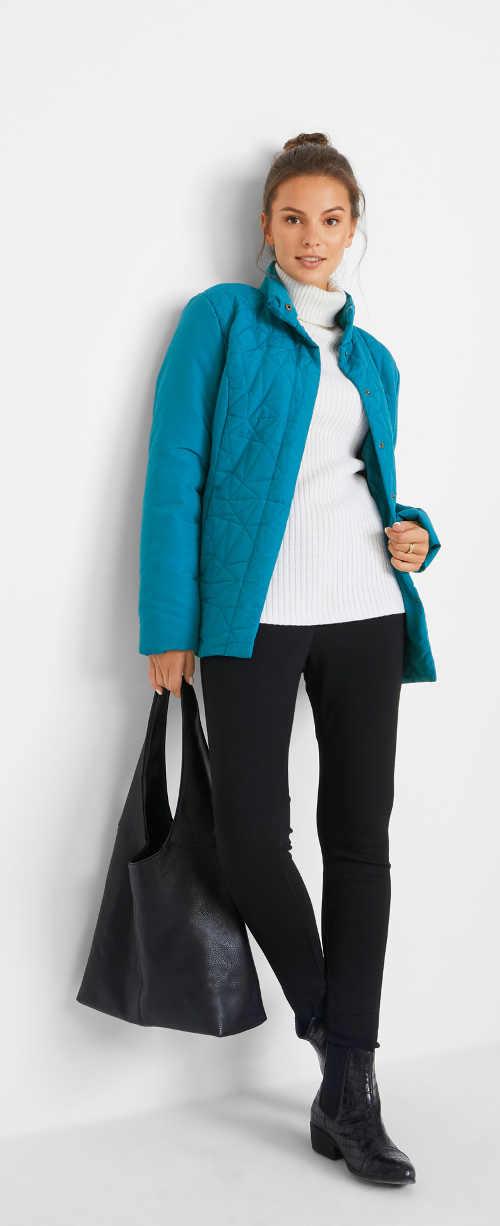 praktická vatovaná bunda v krásném barevném provedení