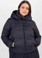 Černá prošívaná zimní bunda pro plnoštíhlé