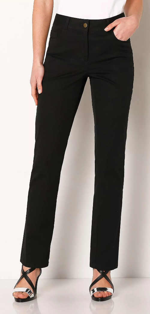 Černé zeštíhlující dámské kalhoty Blancheporte