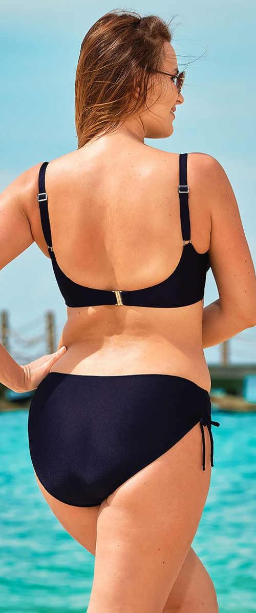 Dvoudílné plavky pro baculky s nastavitelnou výškou kalhotek