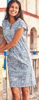 Letní dámské šaty s krásným decentním potiskem