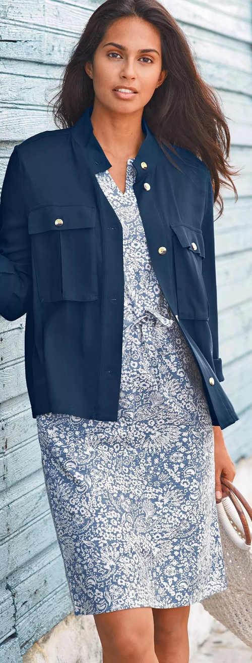 Univerzální modré dámské šaty na léto