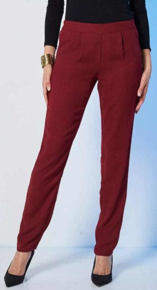 Vzdušné dámské jednobarevné kalhoty levně